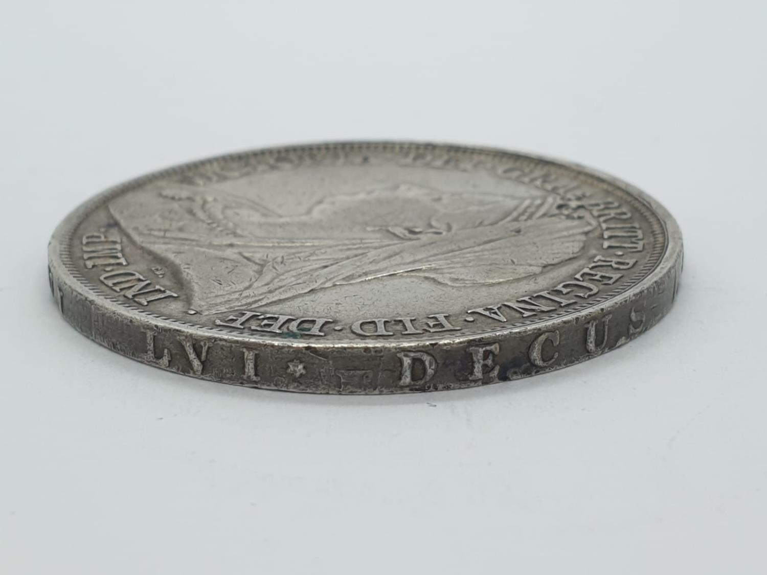 1893 Victorian silver crown - Image 3 of 5