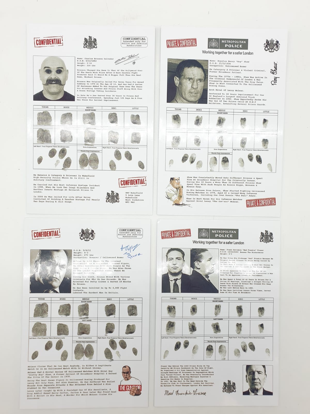 City of London police confidential records for Freddie Foreman, Frankie Fraser, Ronnie Biggs, The - Image 2 of 2