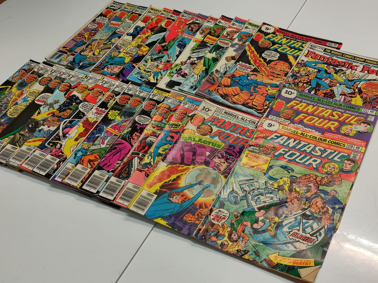 30x Marvel Fantastic four mid 1970s editions. Used, in good condition. - Image 2 of 17
