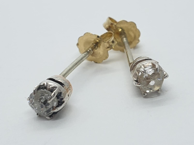 Pair of Diamond STUD EARRINGS.