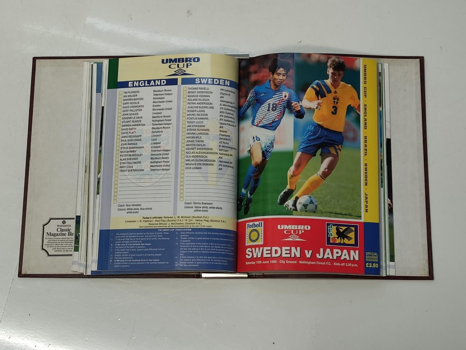 6 UMBRO Cup (1995) Match Programs. - Image 3 of 4