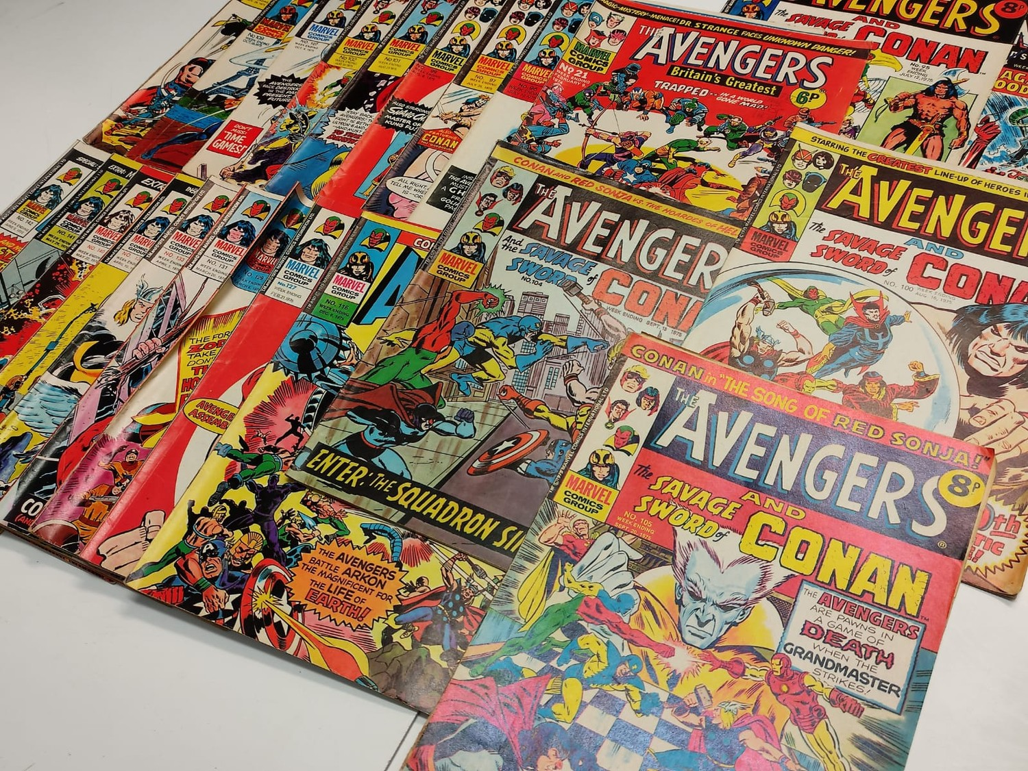 25 x Marvel comics. The Avengers. Dating from 1974-1976 - Image 2 of 18