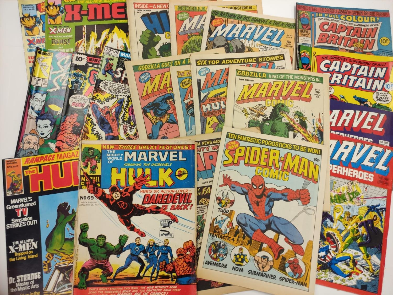20 editions of mixed Vintage Marvel Comics.