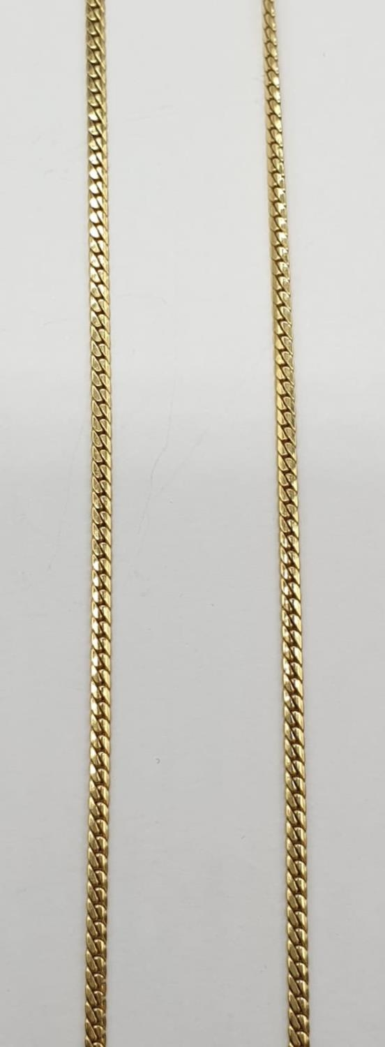 18ct Yellow gold diamond and sapphire collar style necklace Weight 8.8g, Approx.. 0.25ct of diamond. - Image 3 of 6