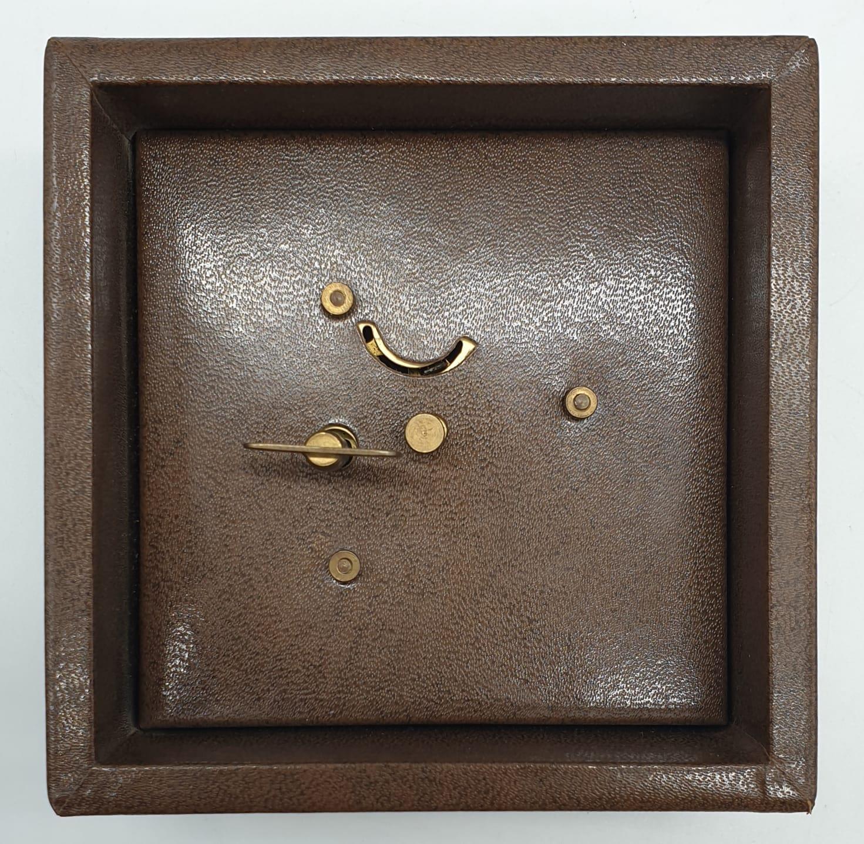 Vintage Mantle Wind-up Clock by Meccedes Phillip Skandetui Malmo, Swedish Designer. 10.5 x 10.5cm. - Image 6 of 7