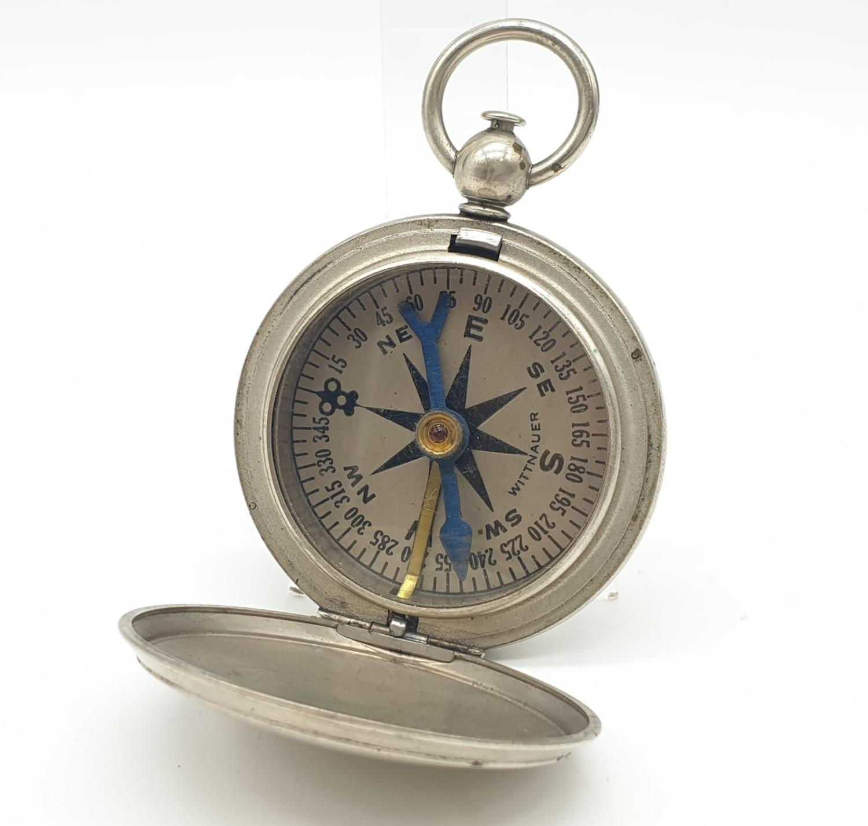 WW1 US Army Pocket Watch Compass circa1917. Maker: Wittnauer.