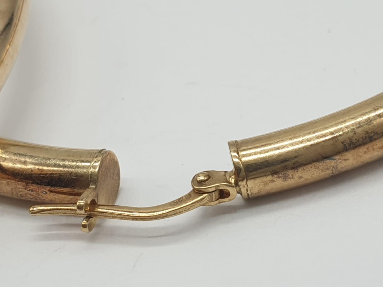 Pair of Silver Gilt HOOP EARRINGS. 11g. 6cm diameter. - Image 4 of 5