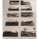 A wonderful selection incorporating 100x black and white photographs of aeroplanes and