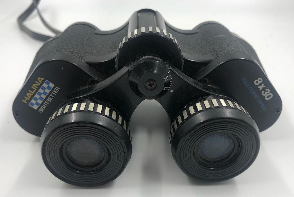 2 x pairs of BINOCULARS. A pair of Prinz, 10 x 50 coated optics with case and a smaller pair of - Image 2 of 3