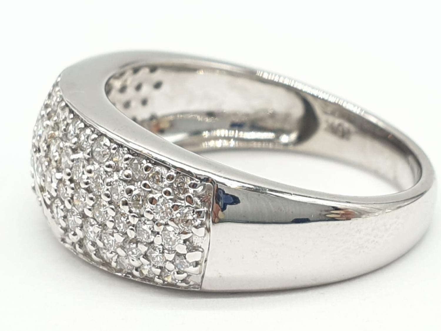 18ct diamond encrusted stylist ring. Weighs 5.6g and is a size O. - Image 3 of 7