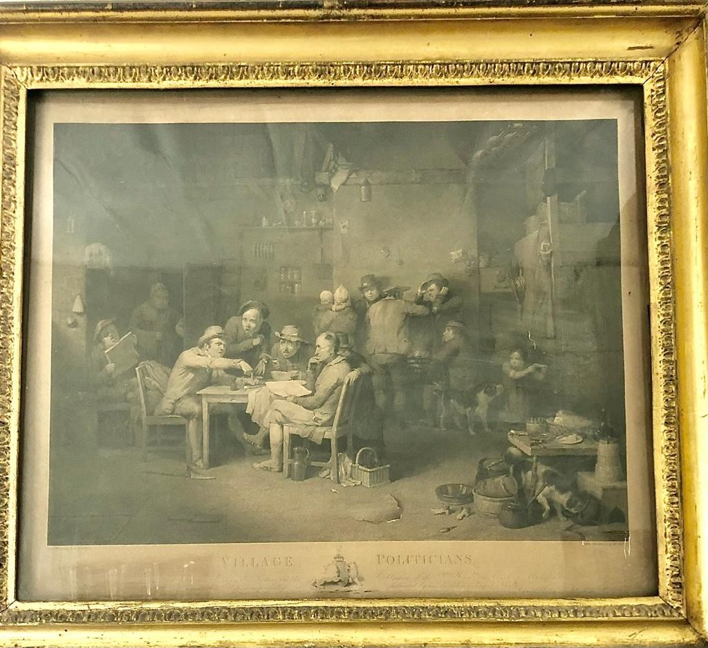 An engraving by Abraham Raimbach- The village Politicians, based on a painting by Sir David