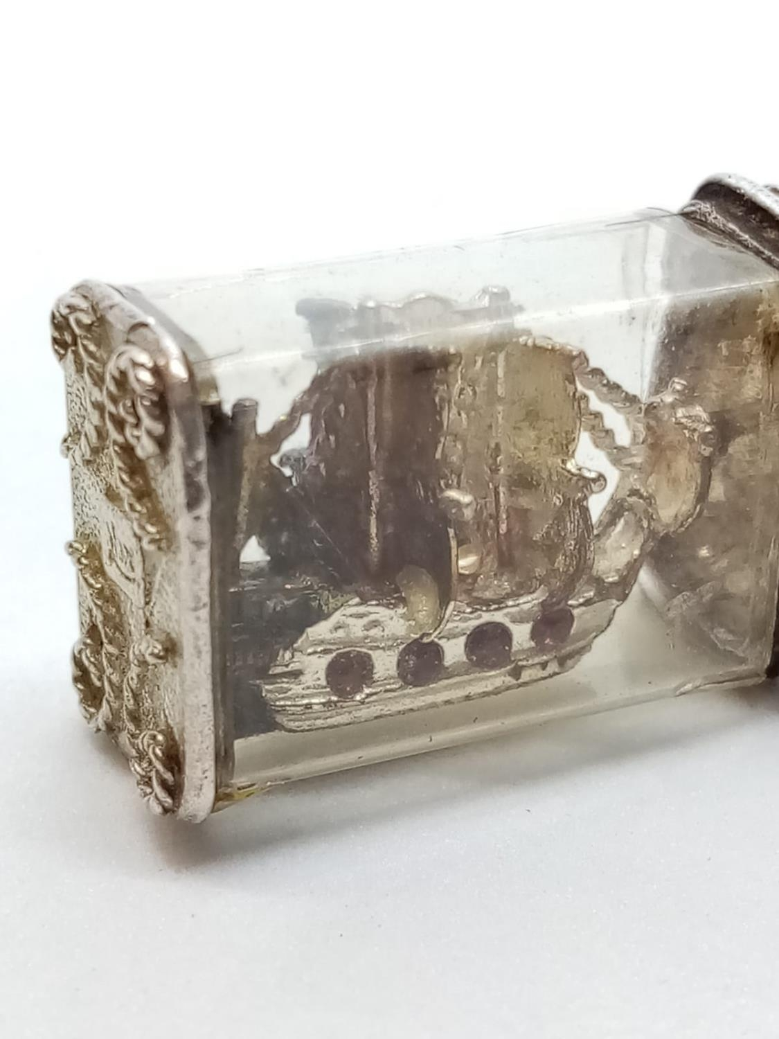 Silver Ship in a Bottle CHARM - Image 2 of 4