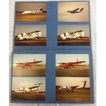 2 x SCRAPBOOKS filled with aviation treasure. Over 200 original colour photographs of aircraft,