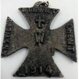 A British WW1 anti German iron cross used as a fund raiser dated 1914