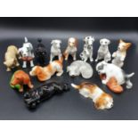 Collection of 14 Playful Puppies ornaments by John Francis. All under 10cm in height. Good
