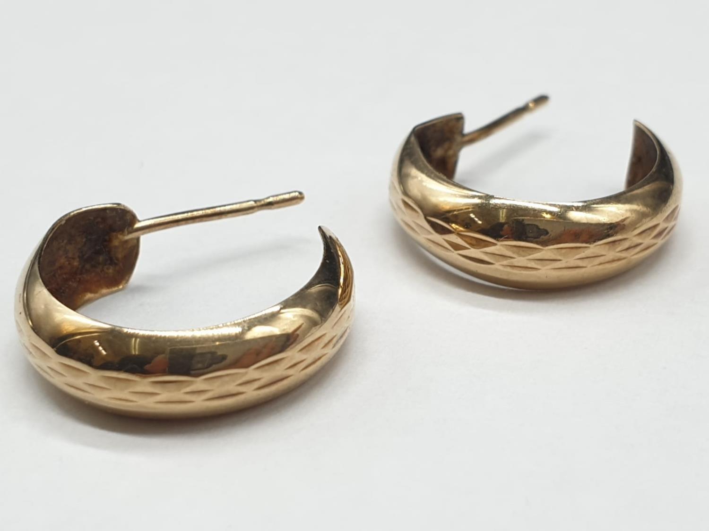 A Pair of 9ct Gold Basic Hoop Earrings 1.3g