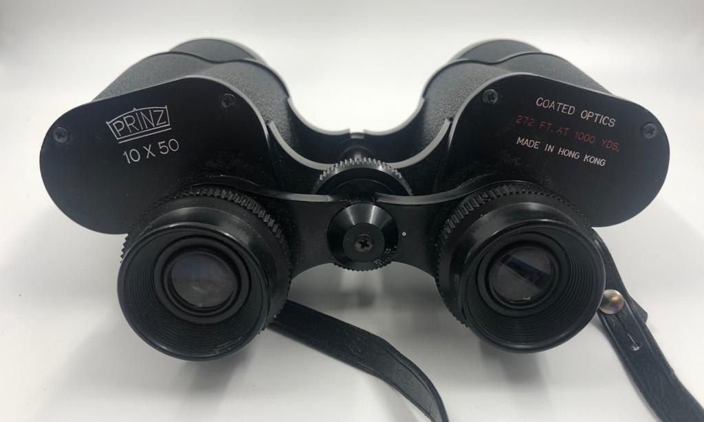 2 x pairs of BINOCULARS. A pair of Prinz, 10 x 50 coated optics with case and a smaller pair of - Image 3 of 3