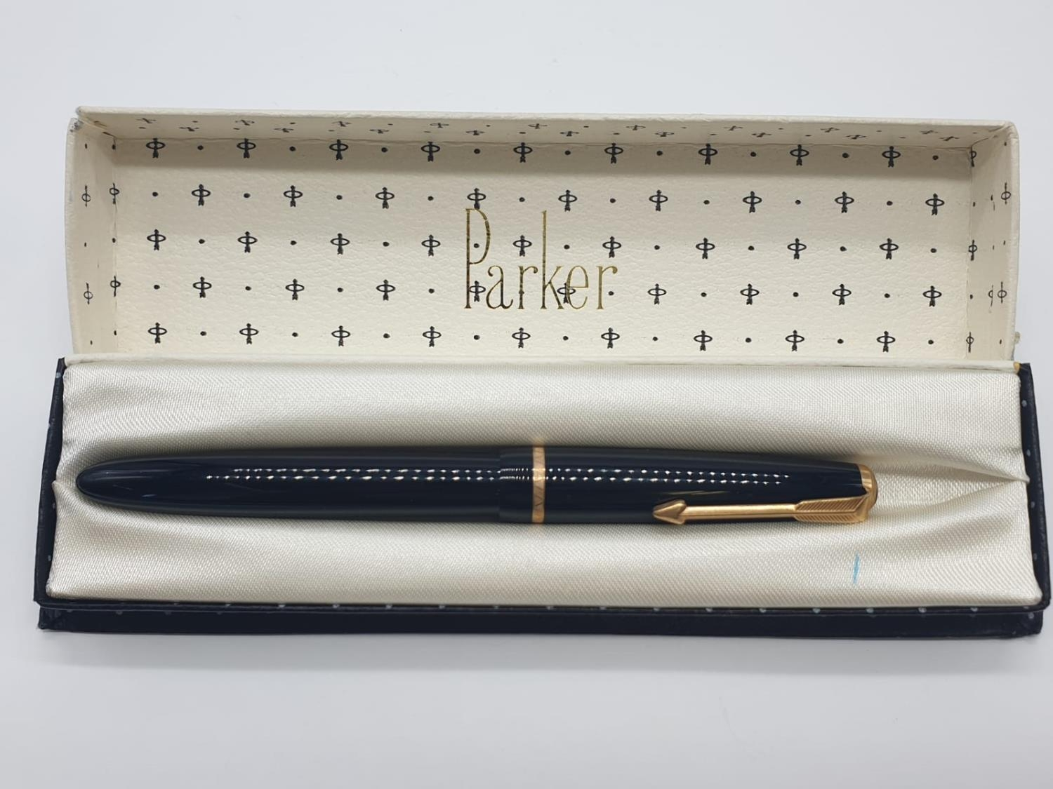 Vintage Parker FOUNTAIN PEN with 14ct Gold Nib.