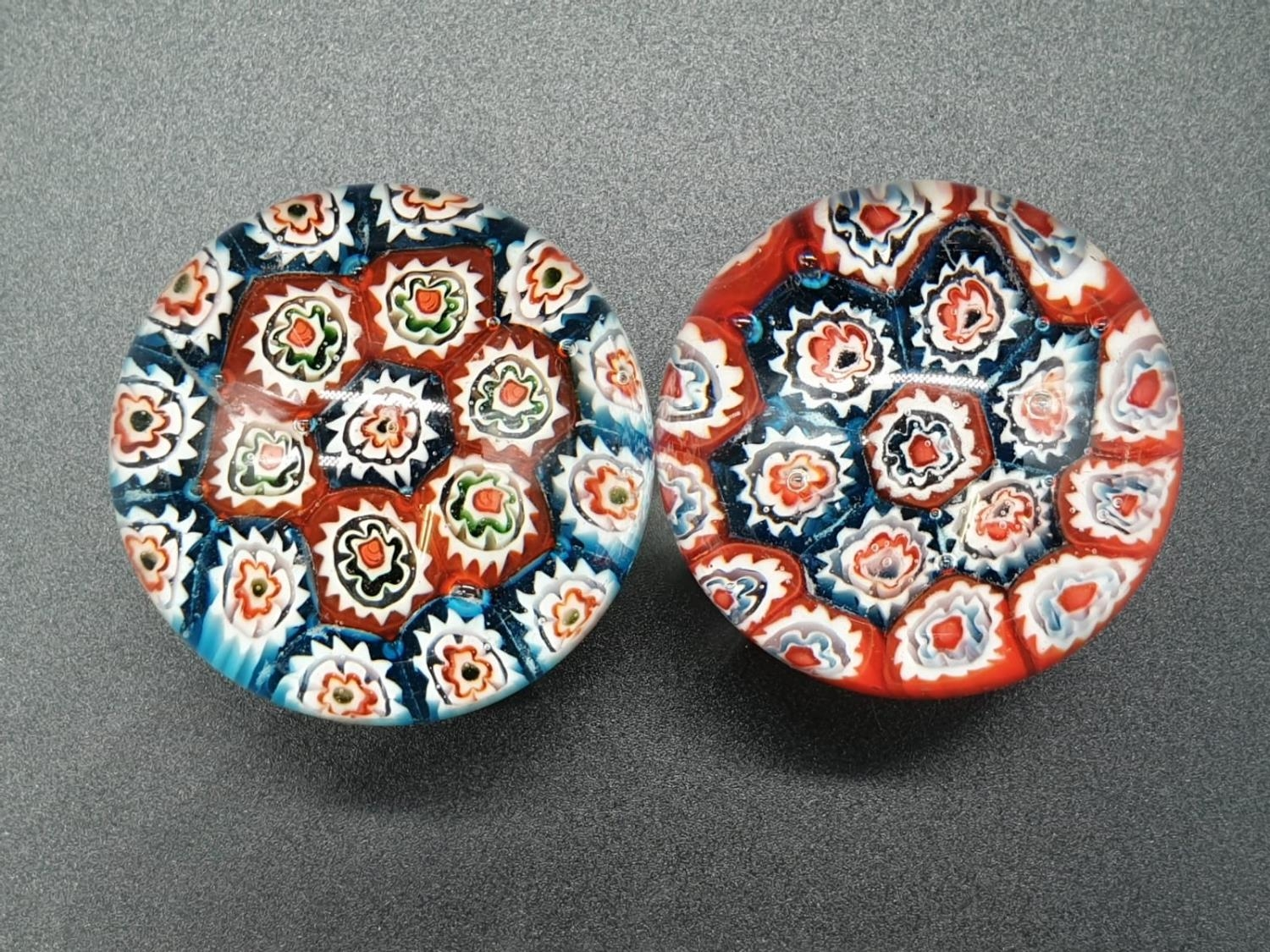 Collection of 6 paperweights, 4 are Millefiori styled, the other two are Caithness paperweights, the - Image 12 of 13