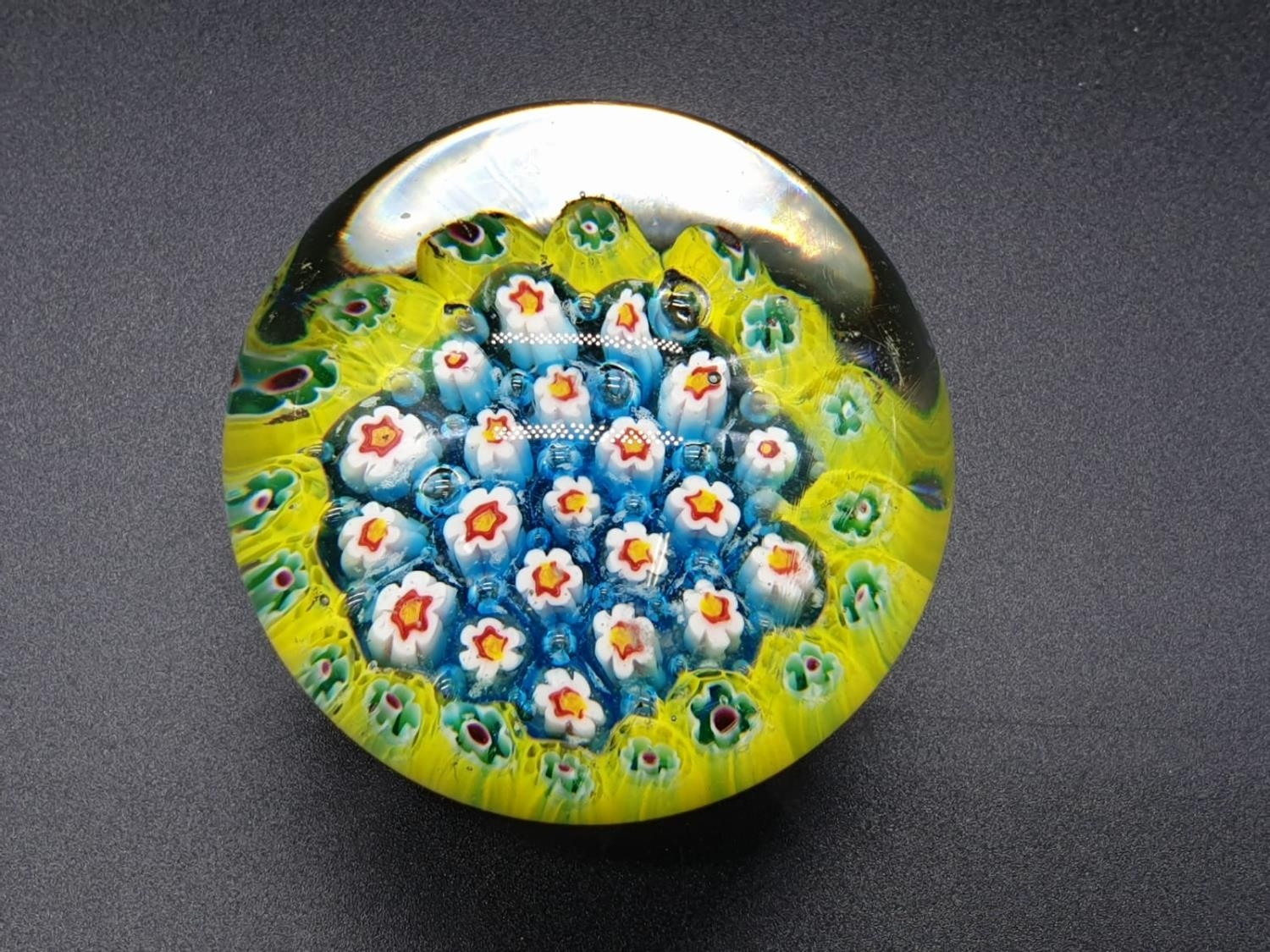 Collection of 6 paperweights, 4 are Millefiori styled, the other two are Caithness paperweights, the - Image 11 of 13