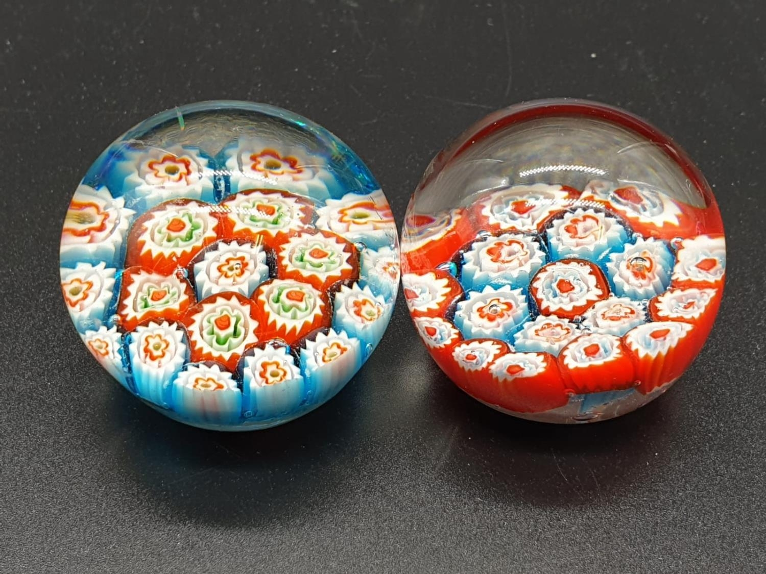 Collection of 6 paperweights, 4 are Millefiori styled, the other two are Caithness paperweights, the - Image 8 of 13