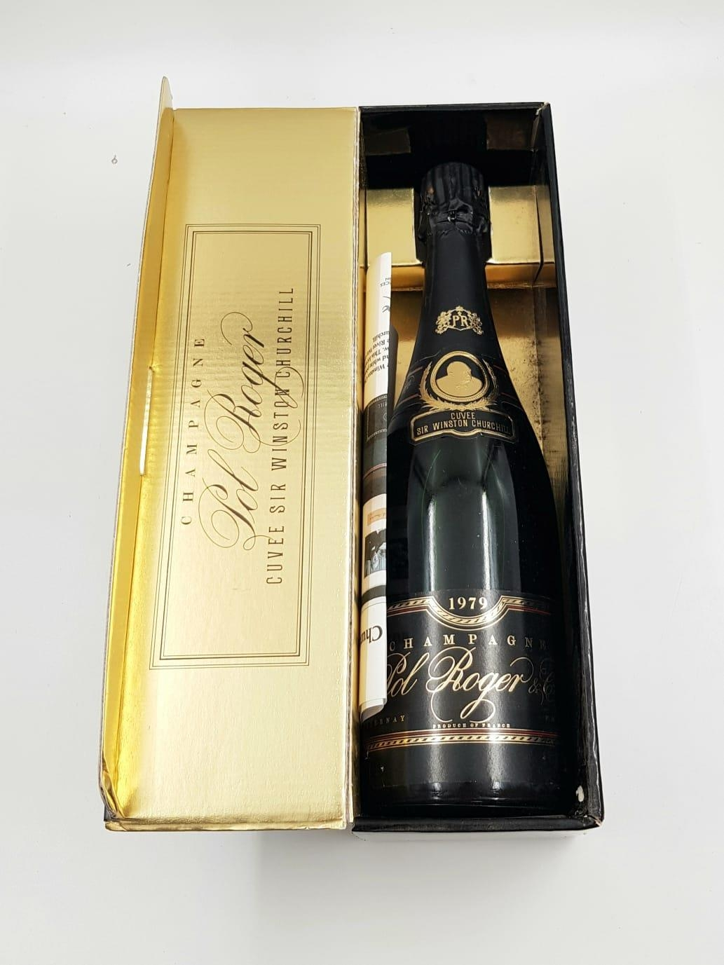 Boxed bottle of vintage POL ROGER CUVEE SIR WINSTON CHURCHILL CHAMPAGNE. With provenance to show - Image 2 of 3