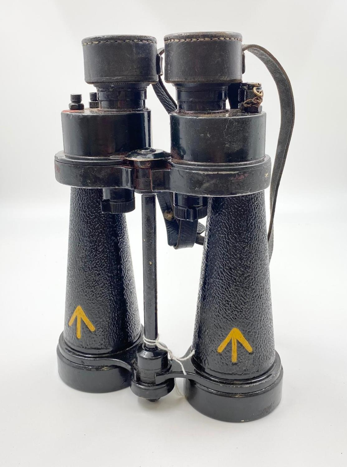 1942 Dated Barr & Stroud Royal Navy Submarine Hunting Binoculars. With anti-glare filters.