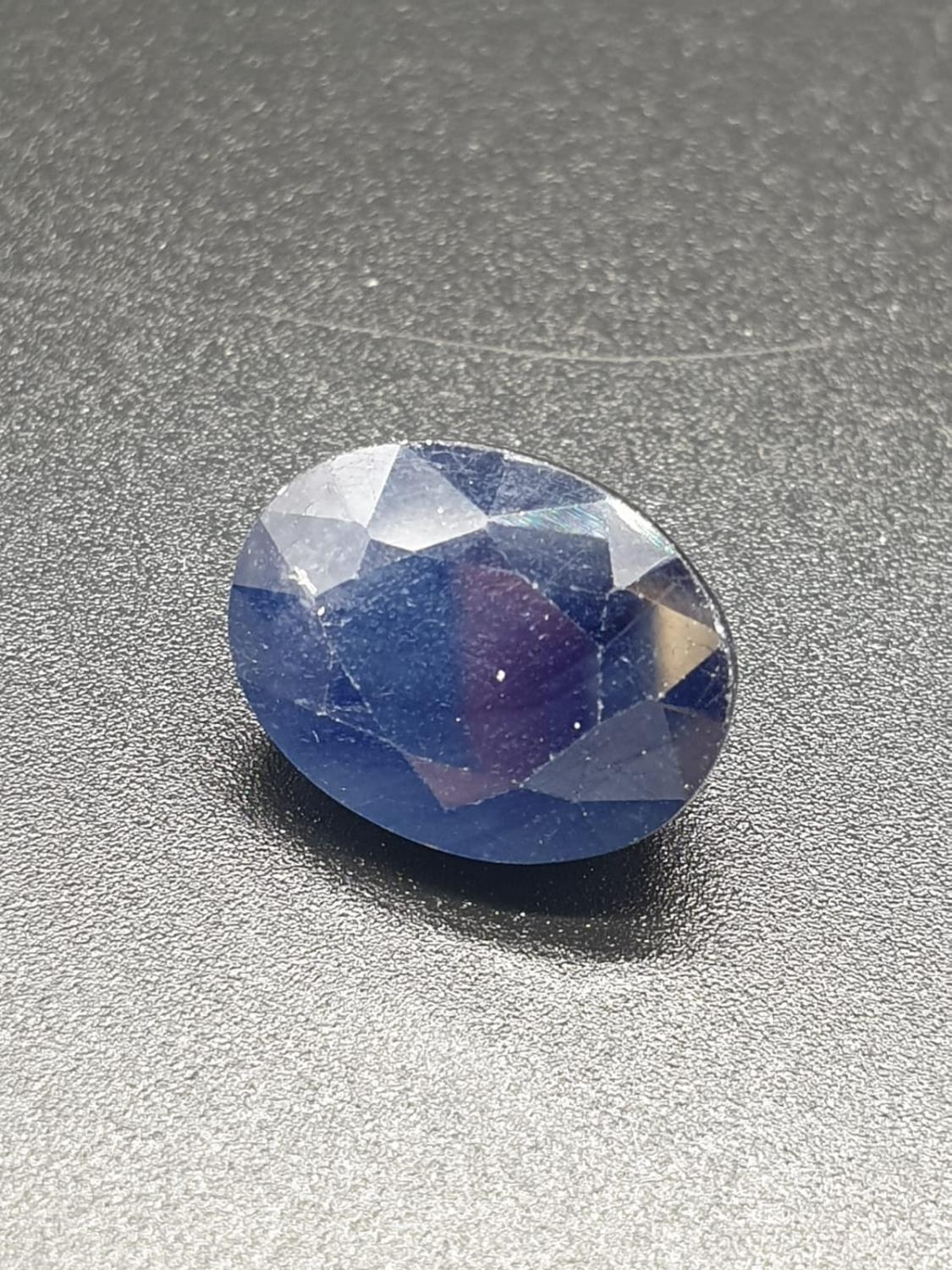 14.21cts Blue sapphire Gemstone certified - Image 2 of 4