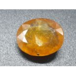 16.57 Ct Natural Sapphire. Oval shape. IDT certified