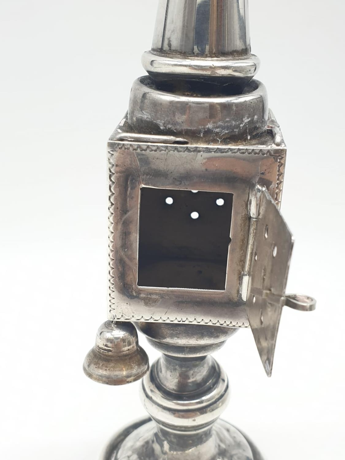Silver TOWER (missing one bell). Late 19th Cent. 94.4g 20 cm tall. - Image 3 of 9