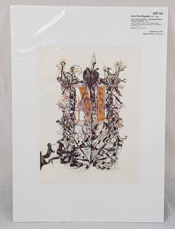Hommage à Aimé et Marguerite Maeght by Jean-Paul Riopelle. An original lithograph in colours