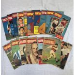 17 Football monthly booklets from 1956 - 1962.