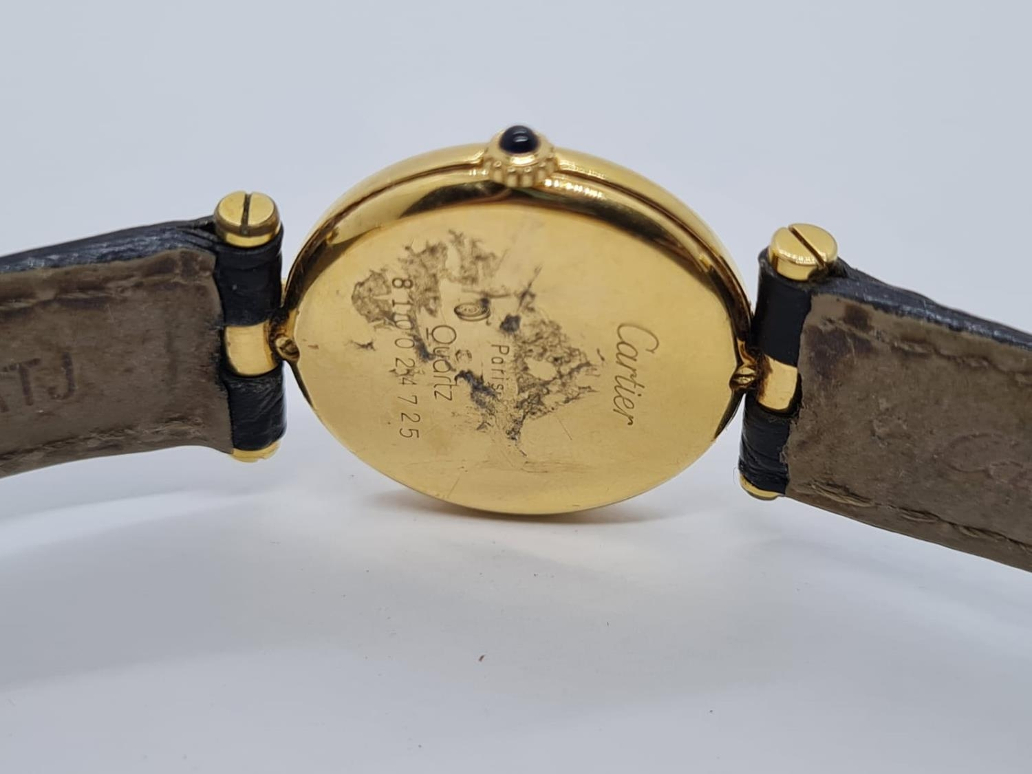Vintage Cartier 18ct Gold Ladies quartz WATCH with round face and Roman Numerals and original - Image 4 of 4