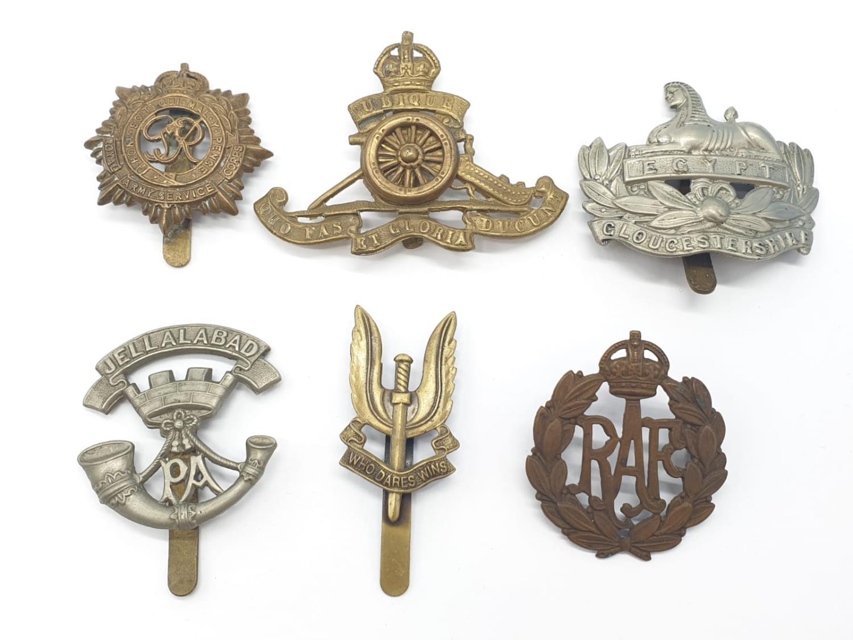 6 x British Army Cap Badges.
