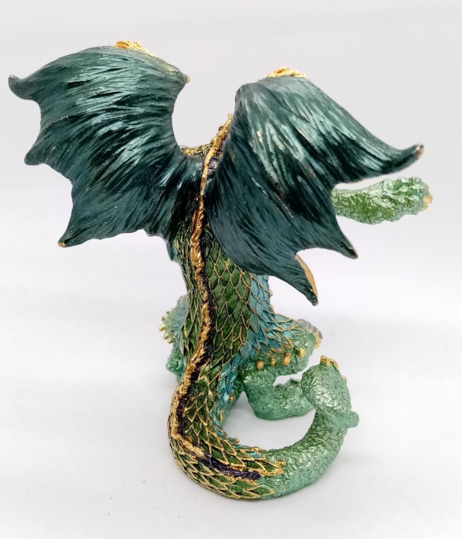 Enamel DRAGON. 520g. 9cm tall - Image 5 of 8