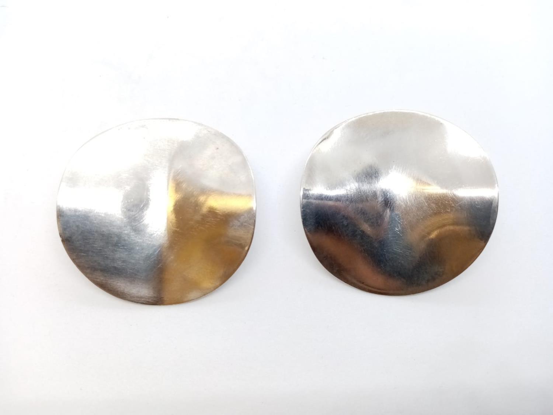 Pair of Silver Designer EARRINGS 17.7g - Image 2 of 4