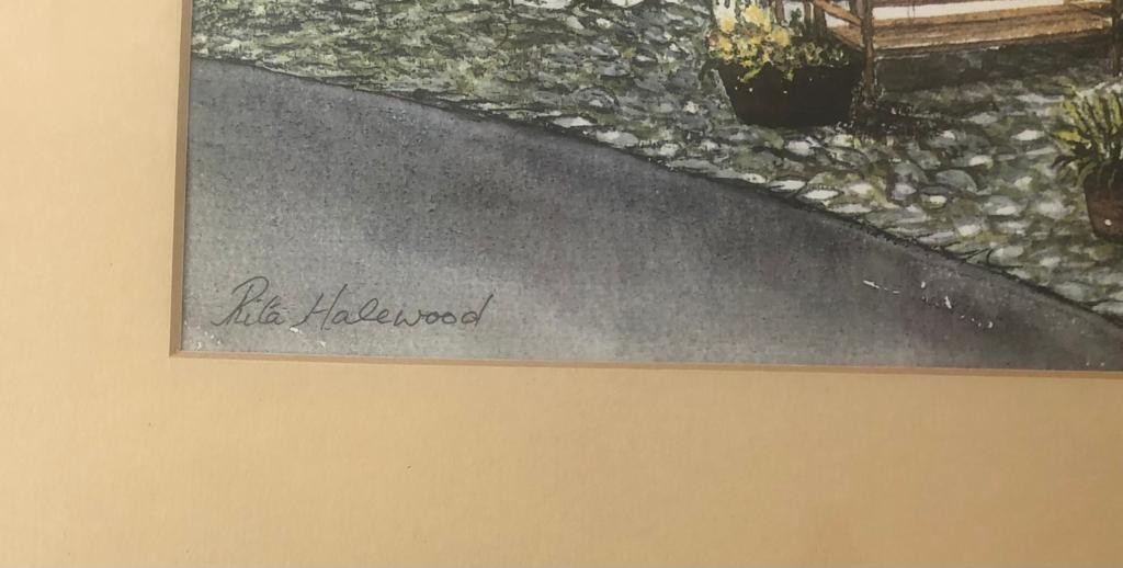 A lovely framed water colour PRINT by the artist Rita Halewood, of Rose Cottage, Hawkshead. 39 x - Image 2 of 3