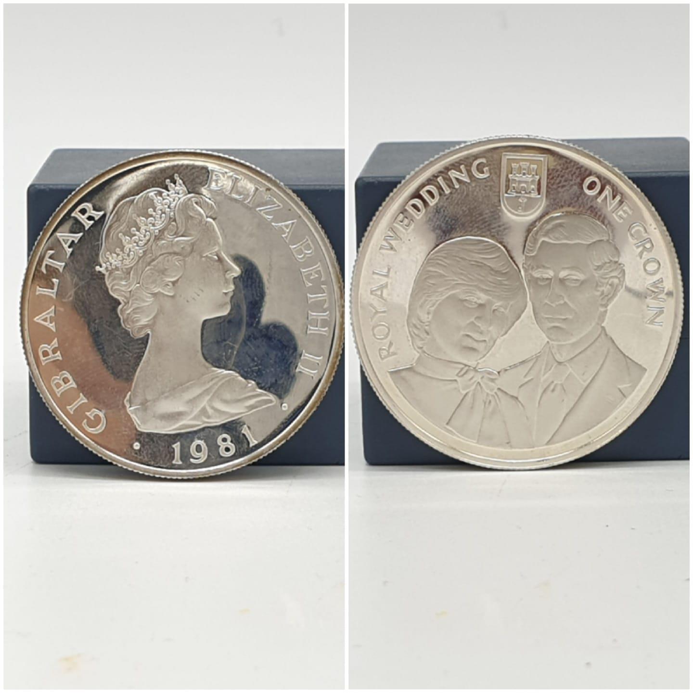 Silver Crown Gibraltar Royal Wedding Diana & Charles 27.8g