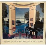 Framed print of Thomas Mcknights- Yellow music room 69x68cm