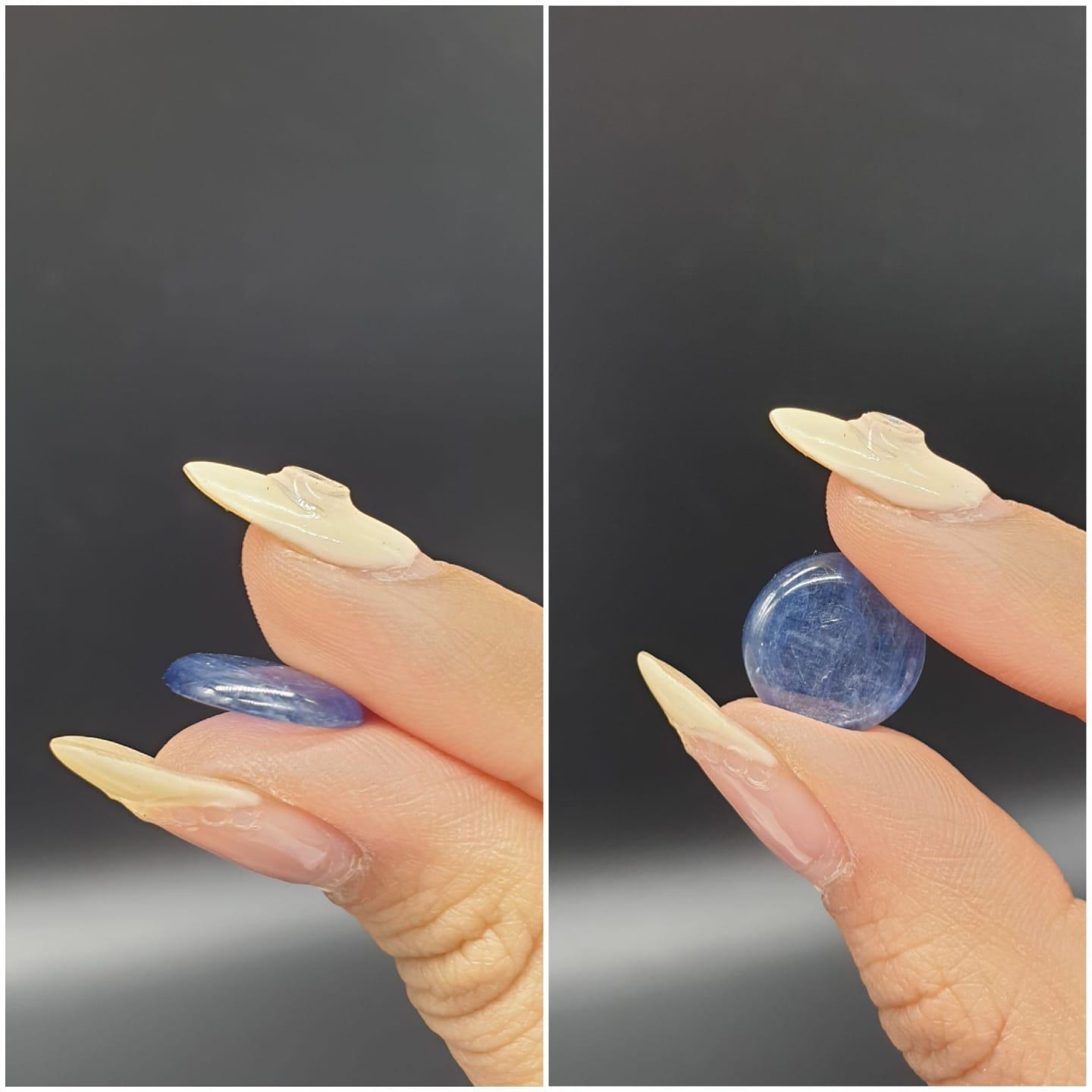 6.82 Ct Kyanite. Round cabochon. IDT certified - Image 4 of 5