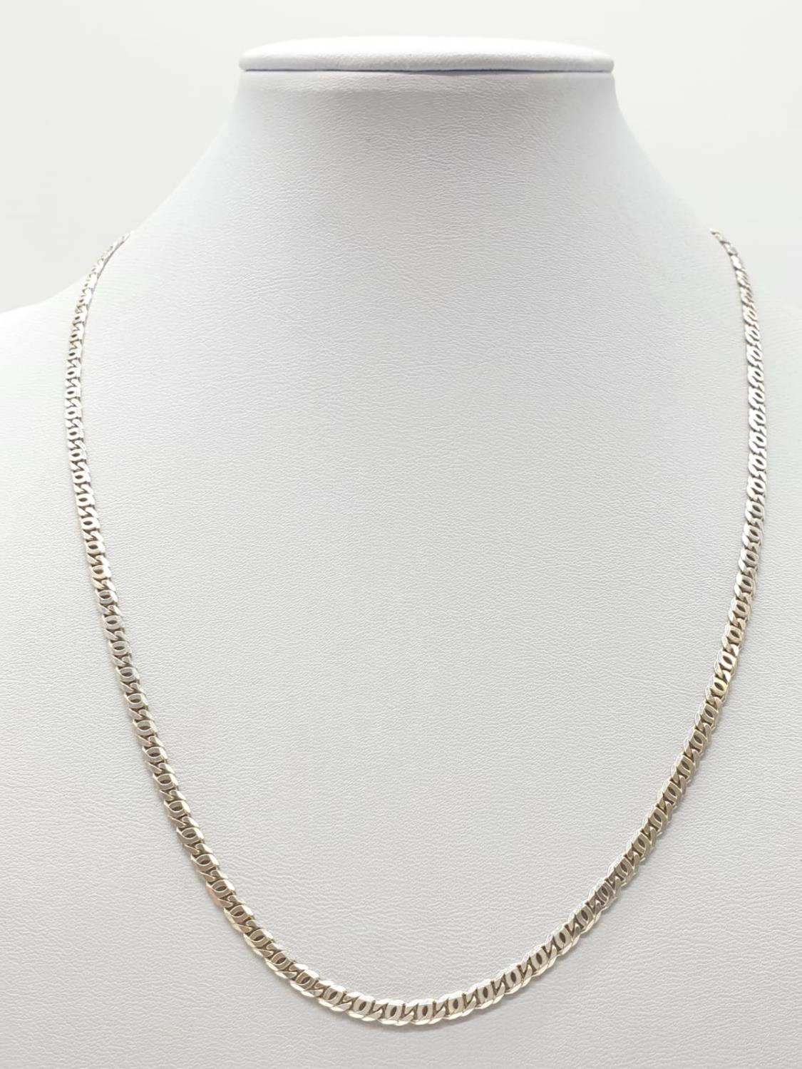 Silver Anchor style chain 10g weight and 44cm long approx
