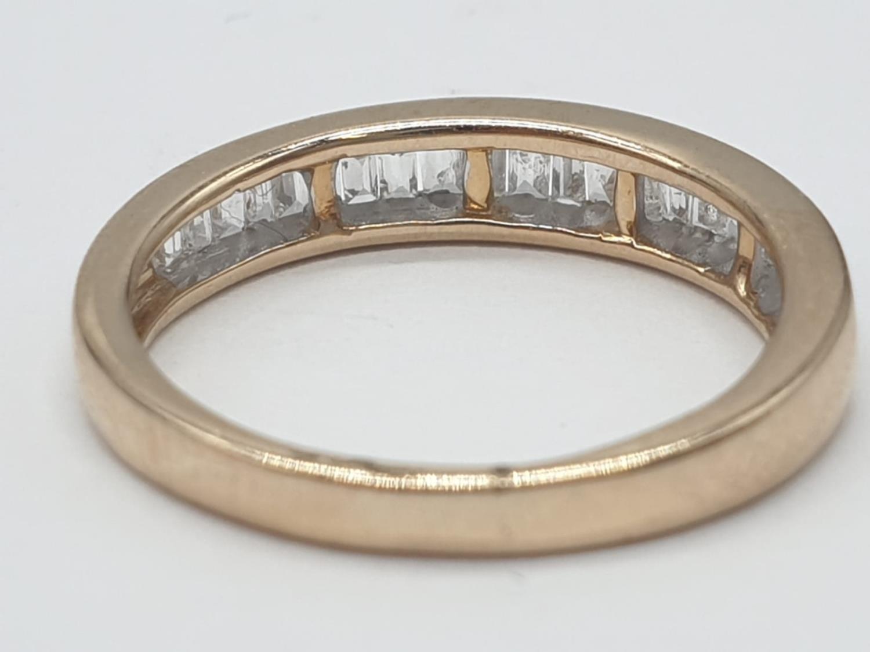 9ct yellow gold diamond half eternity ring, 0.30ct diamond, weight 1.9g and size J - Image 3 of 6