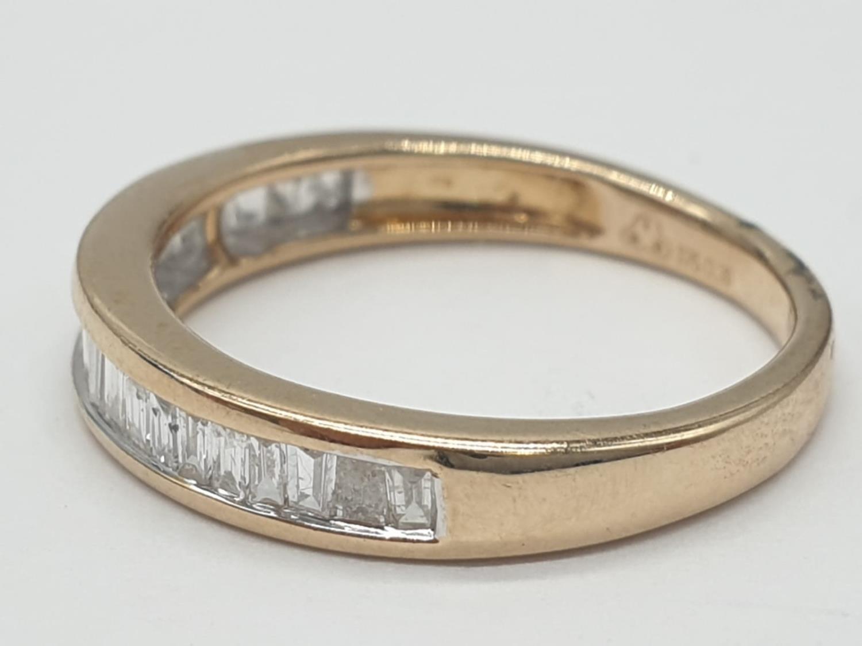 9ct yellow gold diamond half eternity ring, 0.30ct diamond, weight 1.9g and size J - Image 2 of 6