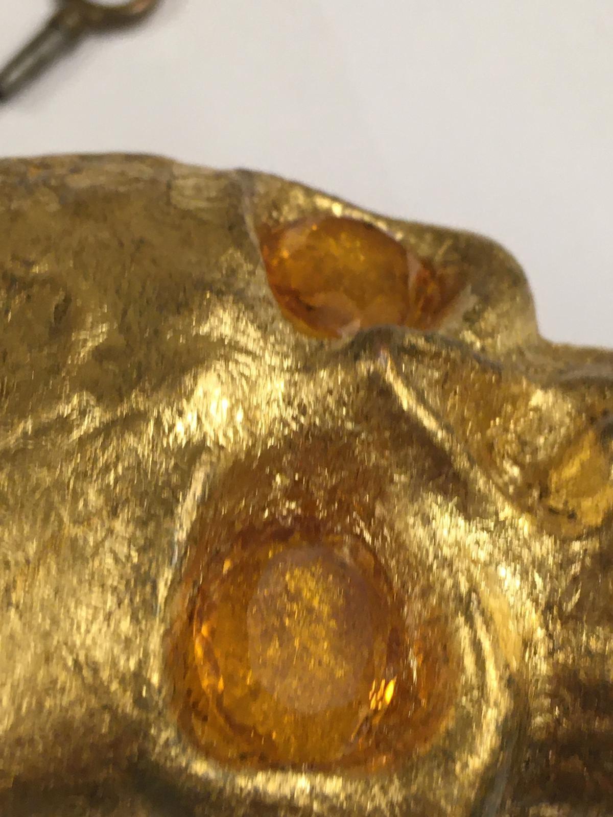 Antique 19th century Masonic memento mori Pocket watch movement timepiece . ( working ) skull with - Image 4 of 8