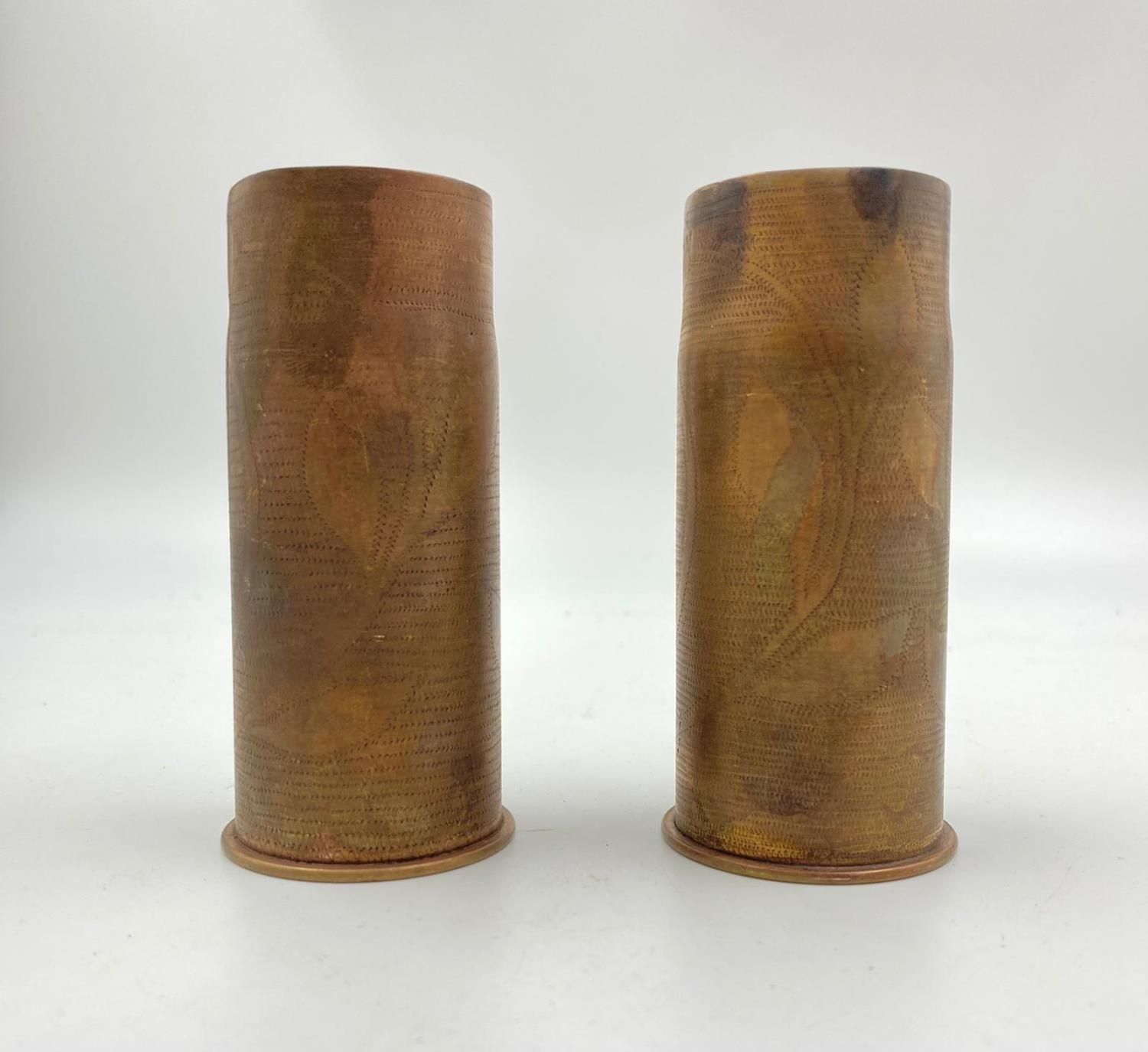 2 x INERT Trench Art 37mm Hotchkiss Cases. They could do with a good polish. - Image 3 of 4