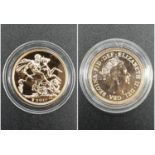 2017 Gold Sovereign in capsule