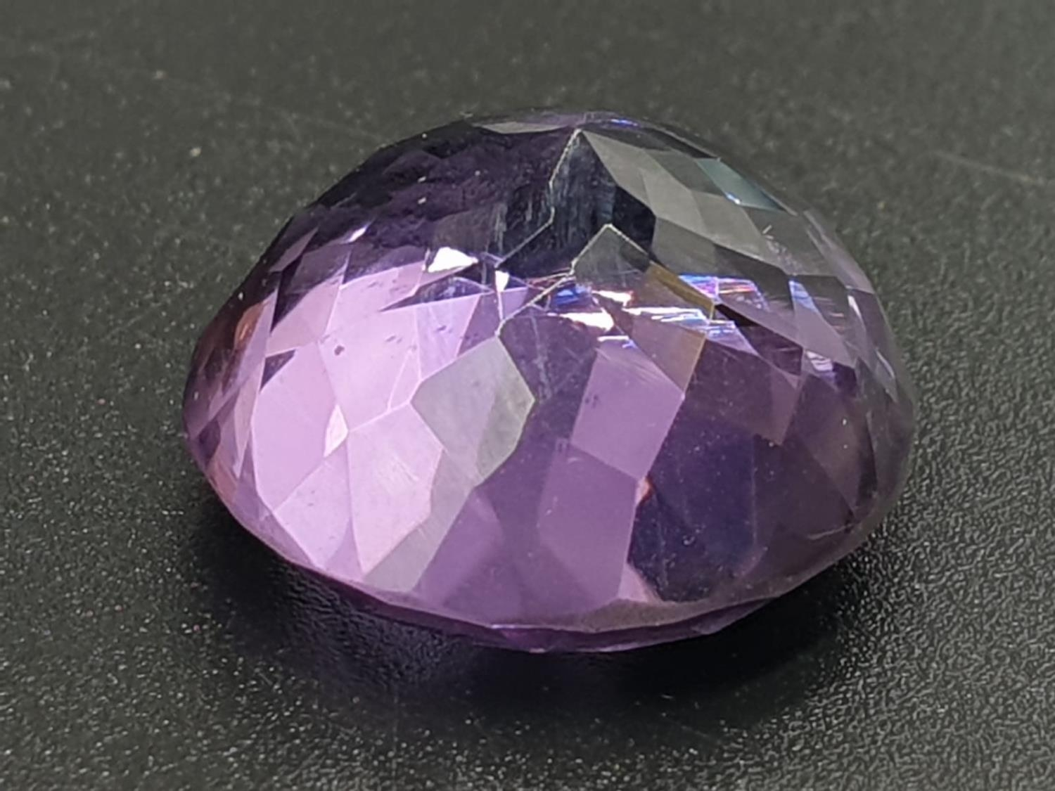 14.93 Ct Amethyst. Round shape. IDT certified - Image 3 of 5