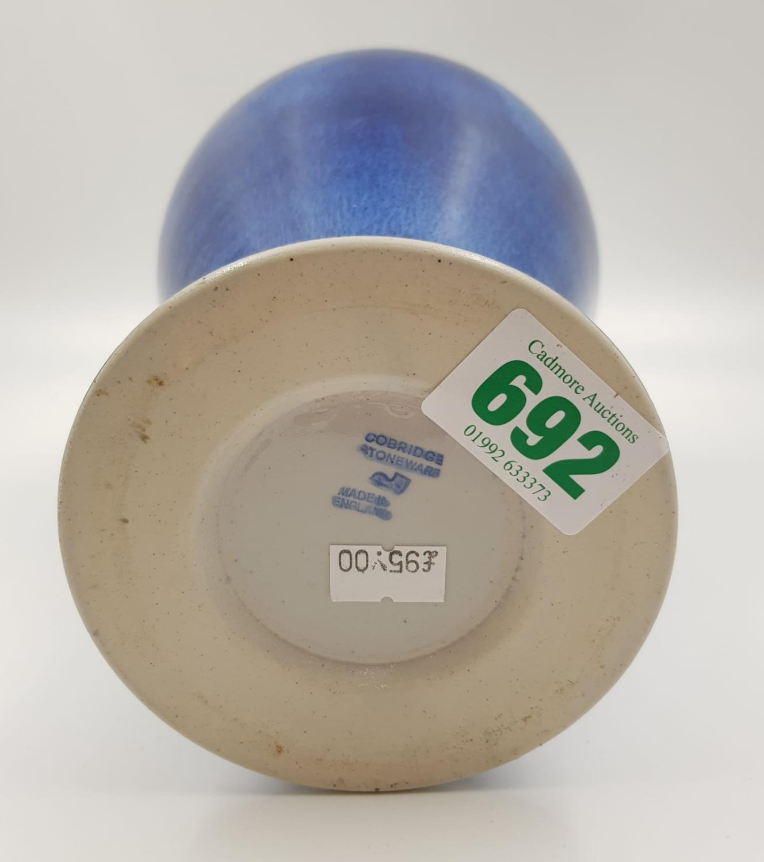 A lovely blue glazed Cobridge stoneware vase. 28cm high. - Image 3 of 3