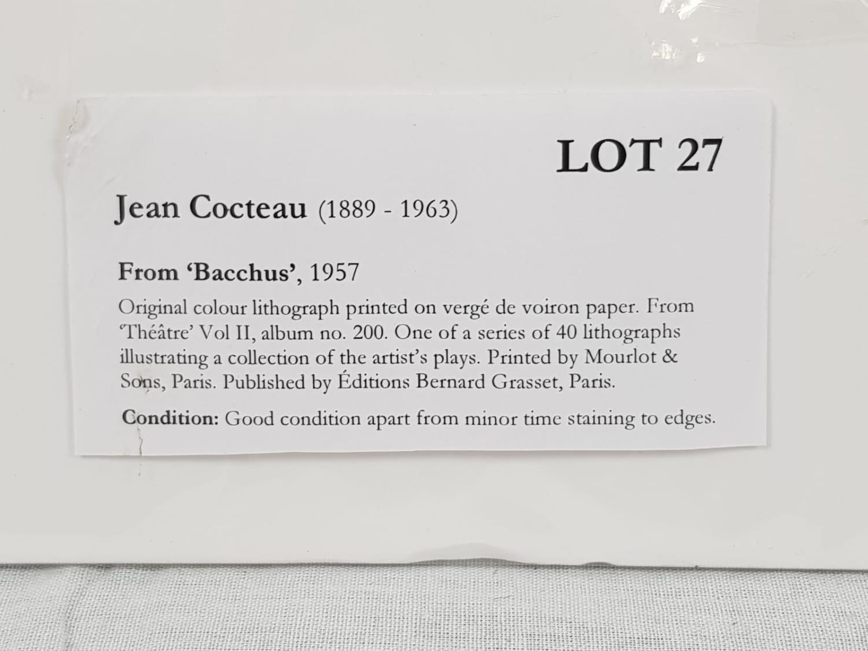 From: Bacchus, a play by Jean Cocteau. An original colour lithograph printed on vergé de voiron - Image 2 of 2