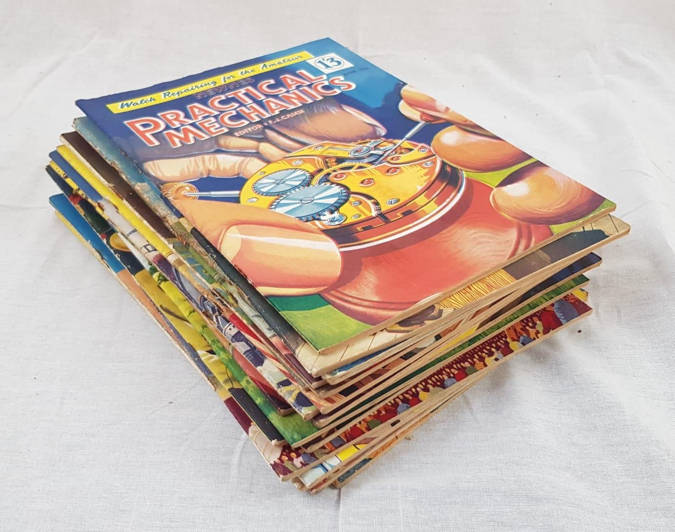 21 Vintage copies of Practical Mechanics magazine from 1954 to 1956. Including the classics: Watch - Image 2 of 2